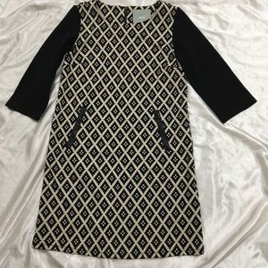 Anthropologie Maeve 3/4 Sleeves Shift Dress Small